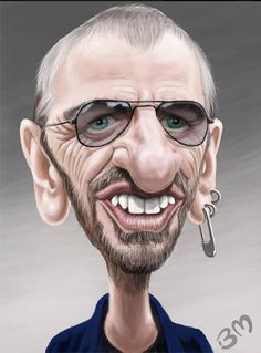 Caricatura de Ringo Starr http://youtube.com/camerafunfair