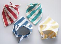 Lightweight Hand Printed Organic Cotton Baby Bandana Bib - Choice of 4 Colours. $19.00, via Etsy.