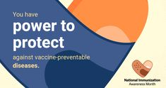 August is National Immunization Awareness Month! It's a great time to remind people that vaccines, including the HPV vaccine, are safe, effective, and save lives. Health Tips, Health And Wellness, Mental Health, Hiv Prevention, Aids Awareness, Health Insurance Plans, Important Facts, Save Life
