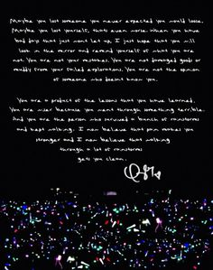 Taylor Swift's speech before she performed Clean on the 1989 Tour. #taylorswift #1989tour
