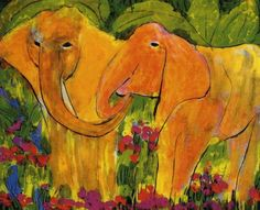 Elephants        2hp Elephants, Painting, Art, Paintings, Art Background, Painting Art, Kunst, Performing Arts, Painted Canvas