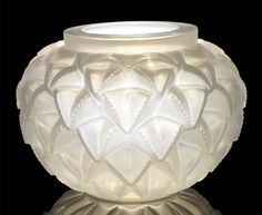 René Lalique  'Languedoc' a Vase, design 1929  opalescent glass, frosted  21.5cm high, etched 'R. Lalique France'