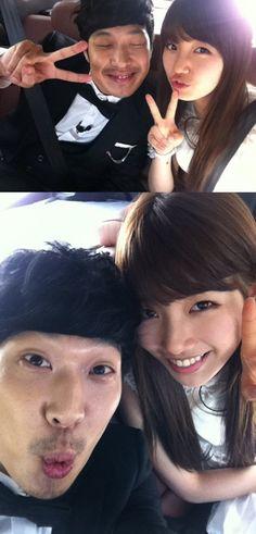 HaHa shares selcas with miss A's Suzy from 'Running Man' filming #allkpop #kpop #missA