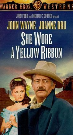 """SHE WORE A YELLOW RIBBON"" (1940) JOHN WAYNE, JOANNE DRU"