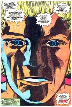 Him! Later to become Adam Warlock. Art by Jack Kirby.