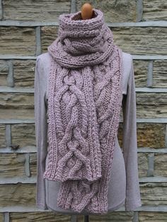 Knit this accessory chunky scarf designed exclusively for Knitrowan by Martin Storey. Using one of our most popular yarns Big Wool (wool), this longer length scarf has a chunky centralised cable pattern.