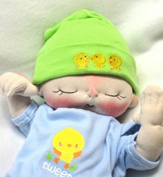 The Soft Heart Soft Sculpture Baby Doll by by bebebabiesmexico, $55.00