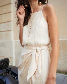SALEM - Sarong strap dress - Creme
