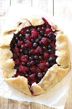 gluten free vegan rustic berry pie