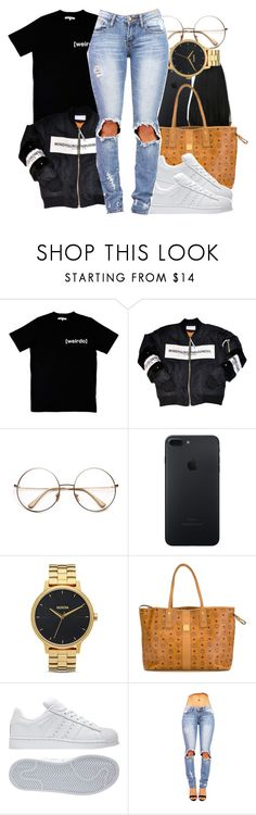 """Sans titre #395"" by lesliekabengele ❤ liked on Polyvore featuring Illustrated People, Nixon, MCM and adidas"