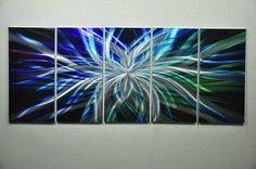 Abstract Metal Wall Art Original Sculpture Painting by Lee's Home Décor Gallery | eBay