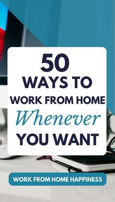 Need a #workfromhome idea that fits around your busy schedule? You need to read this! There are more than 50 ways to earn money online AND you can work from home whenever you want.