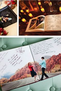 engagement photo book for guests to sign