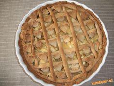 Křehký jablečný koláč z pohankové mouky-chutná jako linecký