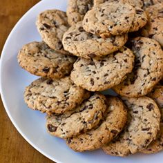"""Mint Chip Cookies...chewy drop cookies with Andes mint baking chips (think """"chocolate chip cookies meets Thin Mints""""!) {recipe}"""