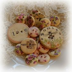 Tattered Treasures: Friday Focus on Buttons -- from the etailer, Funkie Junkie Boutique.