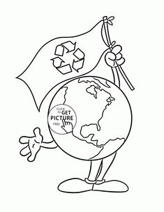 earth with flag earth day coloring page for kids coloring pages printables free