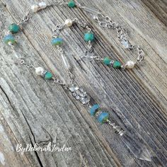 $36 Vintage Rhinestone and Silver Necklace  https://www.etsy.com/listing/541615659/vintage-rhinestone-necklace-aqua-and