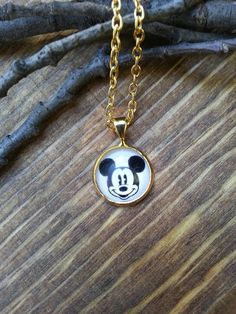 Mickey Mouse Charm Necklace Dainty Gold Disney Animal Fashion Jewelry