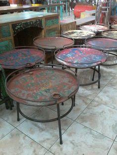 Bali Retro Recycled and Purposed Oil Drum Coffee Table Bali Furniture, Barrel Furniture, Iron Furniture, Recycled Furniture, Industrial Furniture, Modern Furniture, Outdoor Furniture, Furniture Design, Oil Barrel