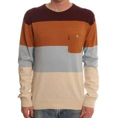 desolateness Mens Hip Hop Long Sleeve Color Block Pullover Knit Sweater