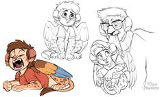 AWWWWWW>>> SPHINXY BABY DIPPER PINES AND STANLEY!!!!!<<<Monster Falls!