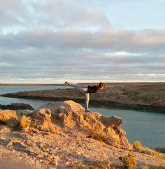 We love to see all your adventurous #BODYBALANCE photos! Where have you taken your practice? (BODY BALANCE en Ria de Puerto Deseado — at Puerto Deseado - Santa Cruz, Argentina)