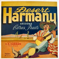 Another fruit crate label from the USA. Nice illustration and typography.
