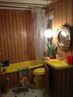 Miniature Trailer House Bathroom