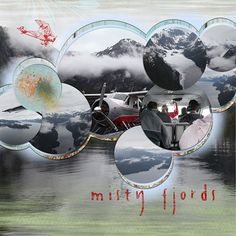 Disney Cruise Adventure Scrapbook Page Layout - Misty Fyords