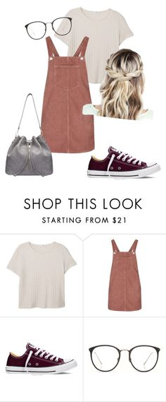 """""""Untitled #7"""" by chloxoxoxx on Polyvore featuring MANGO, Topshop, Converse and Linda Farrow"""