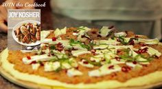 Win a copy of Jamie Geller's Joy of Kosher Cookbook - just let us know your favorite pizza topping and share our video.
