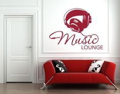 Style  Apply  Music Lounge  highest quality wall decal sticker mural vinyl art home decor quotes and sayings  4611 *** Check this awesome product by going to the link at the image.