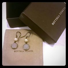 "Bottega Veneta Pearl Earrings Bottega Veneta Pearl Earrings.  NO LOWBALLS NO TRADES NO ""LOWEST?"". The only offers that will be considered are those submitted using the offer button. Thank you for respecting my closet Bottega Veneta Jewelry Earrings"
