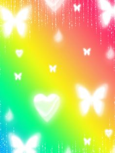 FREE: Cute Rainbow Background by Magical-Mama on DeviantArt Iphone Spring Wallpaper, Rainbow Wallpaper, Butterfly Wallpaper, Cute Screen Savers, Lock Screen Backgrounds, Banner Background Images, Rainbow Background, Rainbow Aesthetic, Pretty Wallpapers