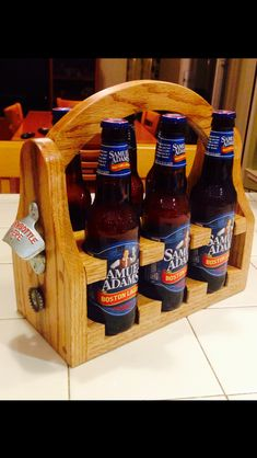 beer caddy. make your own or skip these steps and buy one on etsy :) ***************************** This, I like this. And the person who makes this.... I like them too!
