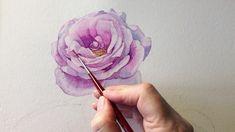 Watercolor Tattoo, Watercolor Paintings, Watercolors, Paint Flowers, Tattoos, Mini, Instagram, Design, Watercolour