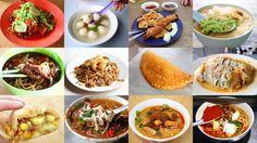 Penang hawker (street) food   Source:  http://www.misstamchiak.com/10-must-try-hawker-food-in-penang/
