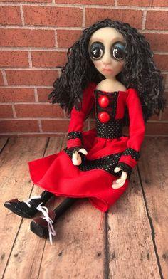Clara ooak doll gothic doll art doll by AliciaSandlinDesigns
