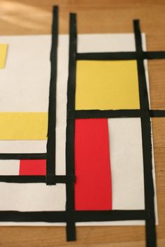 kids art lesson: an introduction to Neo-Plasticism and Mondrian by @Deborah Harju