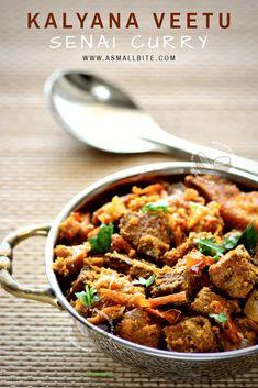 Yam Fry Recipe / Kalyana Veetu Senai Curry is also called as Kalyana Veetu Senai curry as it takes a special place in Weddings in Tamilnadu. This yam curry is a perfect pair with Okra Sambar, Tomato Kuzhambu and Sambar Sadham. Roast Recipes, Curry Recipes, Veggie Recipes, Indian Food Recipes, Vegetarian Recipes, Cooking Recipes, Ethnic Recipes, Veggie Food, Cooking Tips