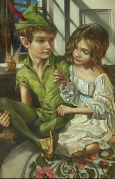 Peter Pan & Wendy<<< DONT FORGET TINKERBELL SHES RIGHT BESIDE PETER