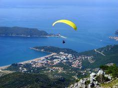 Bečići #Paragliding Бечичи #полетнапарашюте Bečići #Paraglajding www.montenegrostars.com