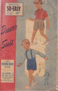 Vintage 1940s Boys pattern