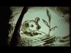 """Мультфильм-сказка нарисованный песком """"Мышонок и подснежник"""""""