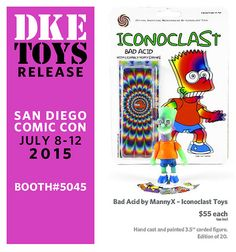 DKE's Comic-Con exclusives have proved so popular that for the second year in a row, we've opted to give the distributor of urban designer vinyl toys and collectibles its own master post, wi… July 7, San Diego Comic Con, Vinyl Toys, Action Figures