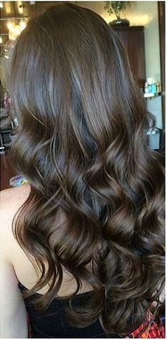 dark brunette hair color idea