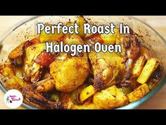 Roasted Chicken And Vegetables In Halogen Oven - YouTube Oven Roasted Chicken, Roast Chicken, Baked Chicken, Chicken Recipes, Halogen Oven Recipes, Chicken And Vegetables, Meat, Baking, Youtube