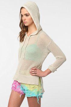 Mesh beach sweater....I like the wide hem and the longer back.  Very nice.