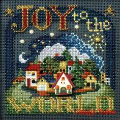 Mill Hill Buttons Beads #crossstitch  JOY TO THE WORLD #needlecraft #DIY…
